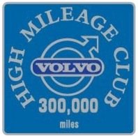 volvo 300,000 mile badge