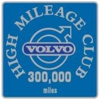 volvo 300,000 mile badge