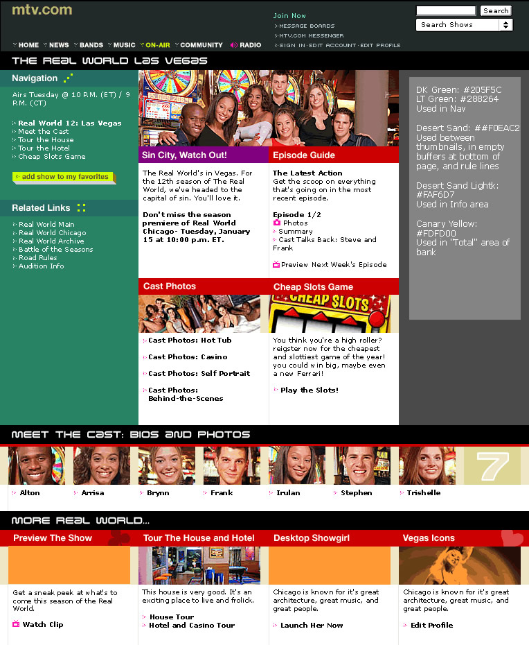 The Real World show page