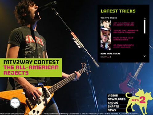 MTV2 homepage