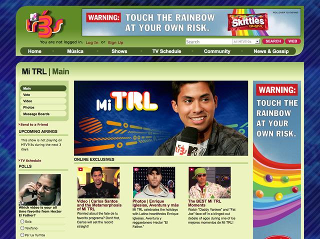 Mi TRL show page