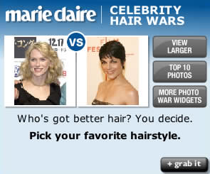 Marie Claire Celebrity Hair Wars widget